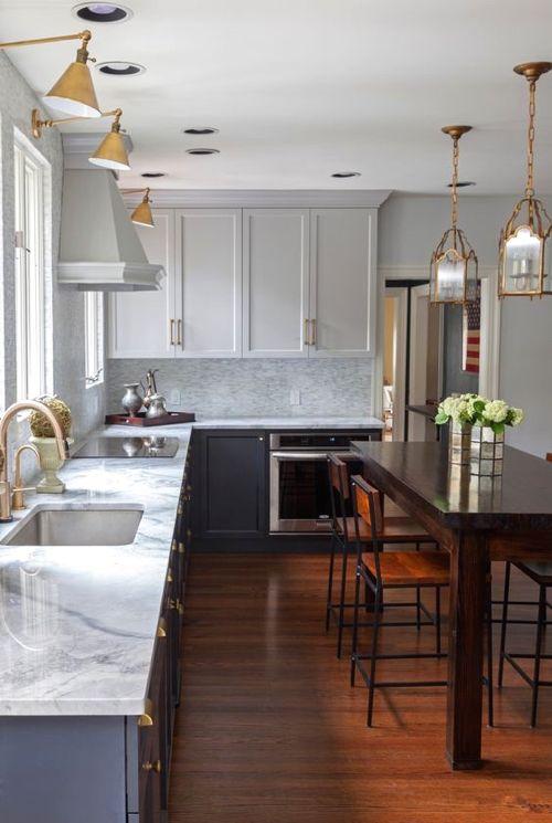 Marvelous Montage: 15 Kitchens Mixing Sconces And Pendant Lights (Diy Kitchen Lighting )