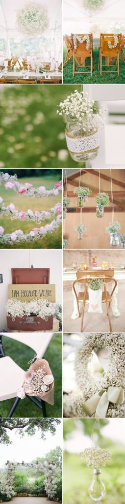 Rustic Wedding Ideas - Baby's Breath Wedding Decor