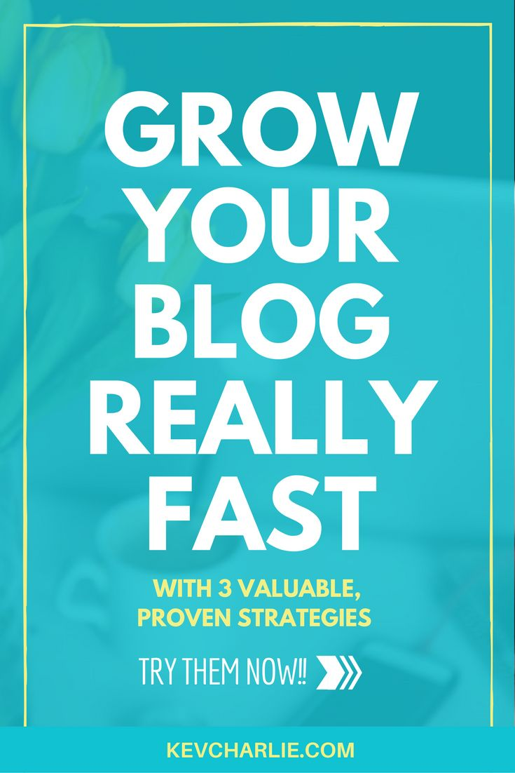 It's not that hard! You can grow your blog really fast with these 3 valuable proven strategies. Do you want to try them now? By Kevin Charlie - Blogging Expert.