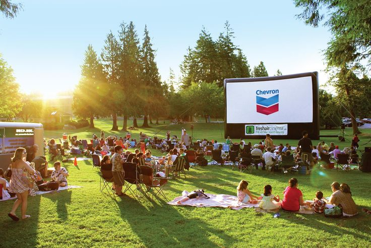 Free outdoor movies in Stanley Park. Great way to spend a summer evening.