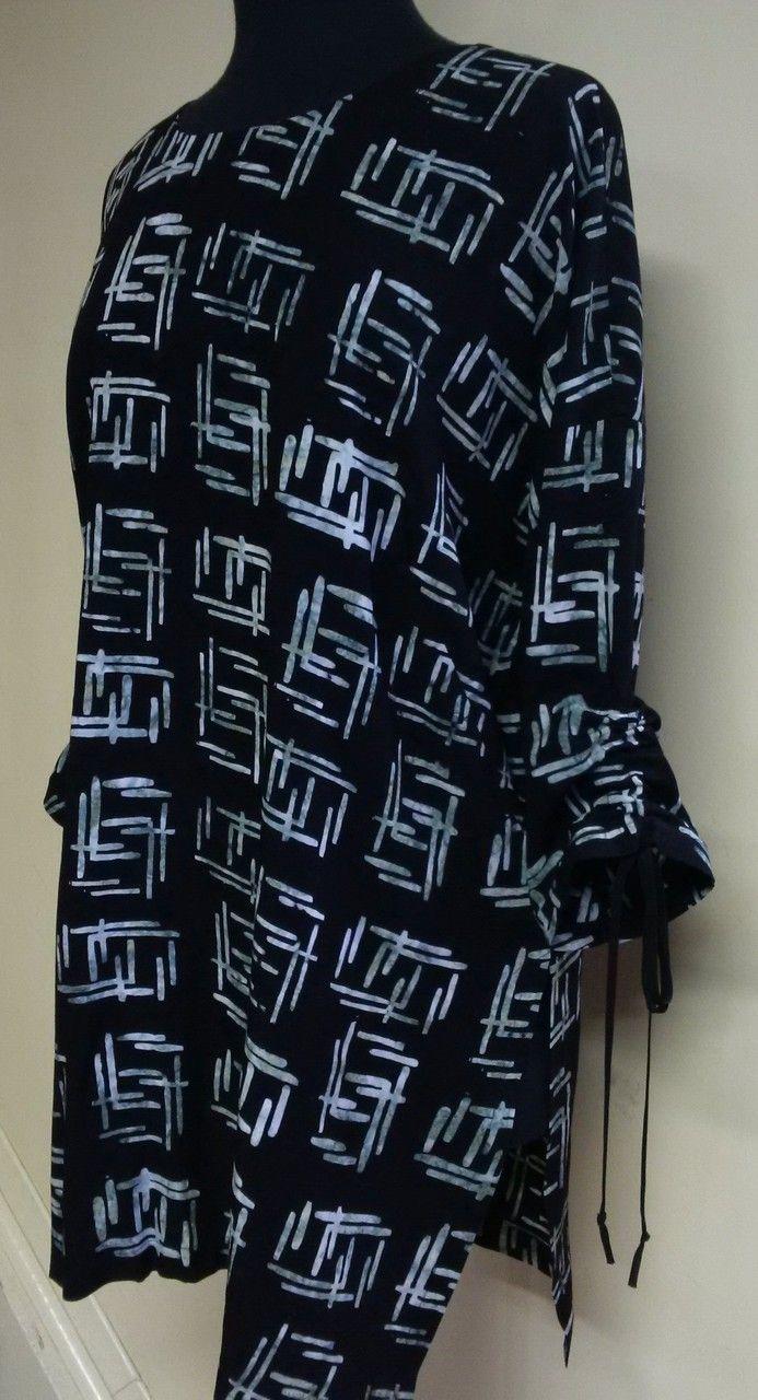 Distinctive Sewing Supplies - Swizzle Sticks Batik Rayon - Black