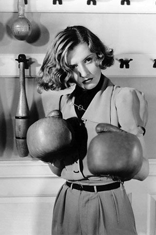 Now, those are some practical gloves!  (Barbara Stanwyck in 'Breakfast for Two')