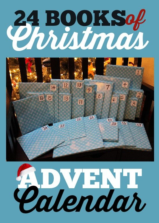 24 Books of Christmas Advent Calendar – A book a day! I love that it's family activity – we take turns opening books and we read a different Christmas story every night! #Christmas #Advent