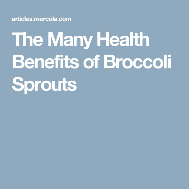 The Many Health Benefits of Broccoli Sprouts
