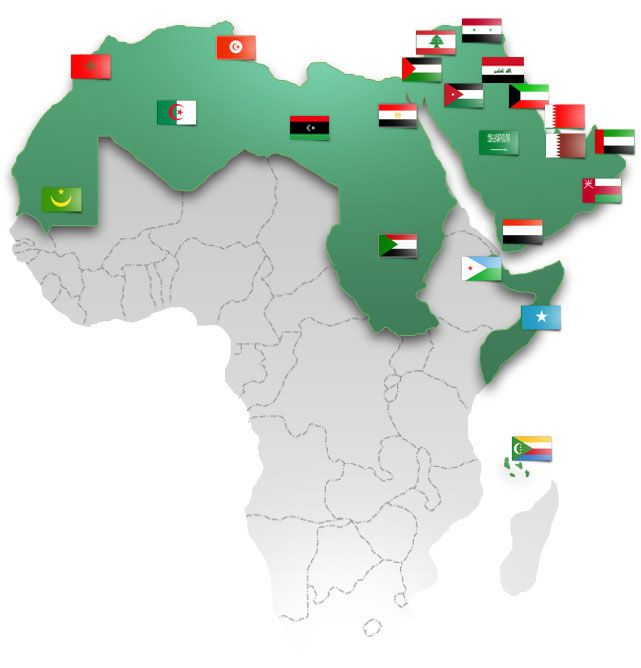The 302 best international partnerships images on pinterest flags league of arab states member states gumiabroncs Choice Image