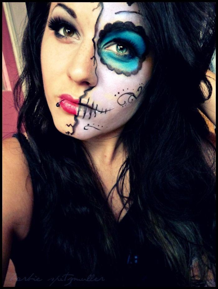 Best 25+ Half face halloween makeup ideas on Pinterest | Half ...