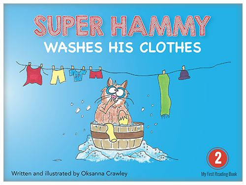 Yes, Super Hammy washes his clothes, one by one.