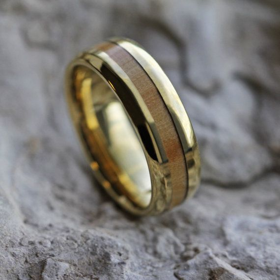 Ring Layout Ring Width: 6 mm Ring Sleeve: <b>10k Yellow Gold</b> Ring ...