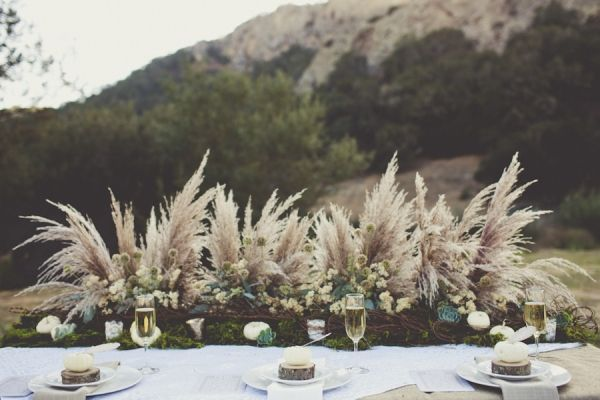 wild grass plumes tablescape // event design by EverAfter-Artistry.com photo by Sarah Kathleen