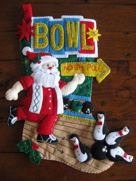 Bucilla Bowling Santa -  Completed