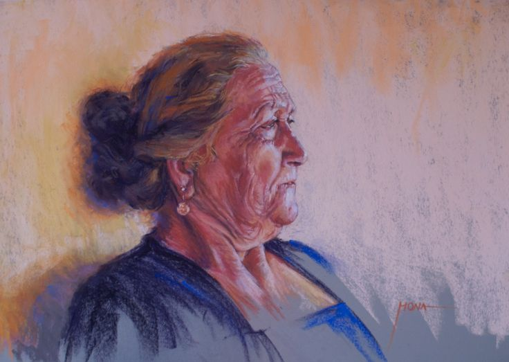 The Matriarch, pastel by Regina Hona http://www.reginahona.com