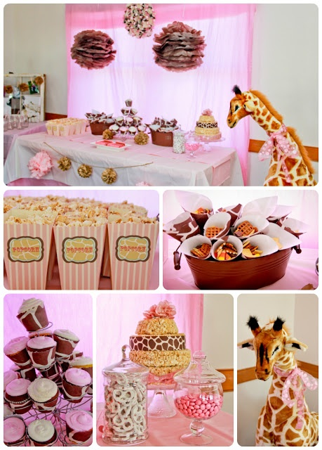 Giraffe Birthday Party- giraffe print cones and cupcake wrappers