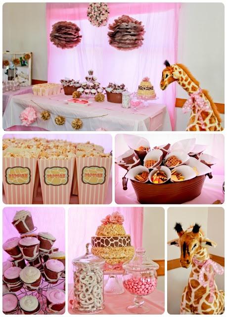 Giraffe Birthday Party- giraffe print cones and cupcake wrappers