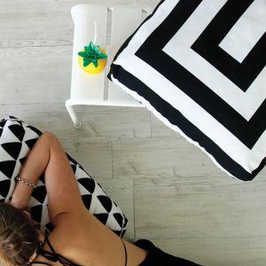 Jennifer + Smith Box Stripe Outdoor Cushions www.jenniferandsmith.com