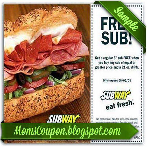 printable Subway coupons February 2015