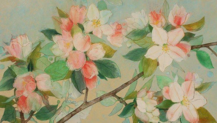 Apple Blossom IG - Loes Botman pastels, pastelkrijt tekeningen
