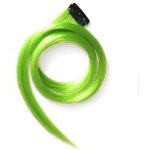 """Winstonia 22"""" Clip-In Straight Long Hair Extension (Neon Green)"""