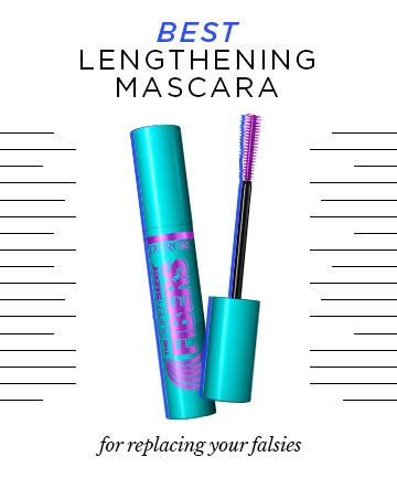 The Best Lengthening Mascara to Replace Your Falsies. CoverGirl The Super Sizer Fibers Mascara, $7. Expert tip: Twist the wand while working through your lashes -- the technique pushes lashes sky-high creating an even longer and fan-like effect.