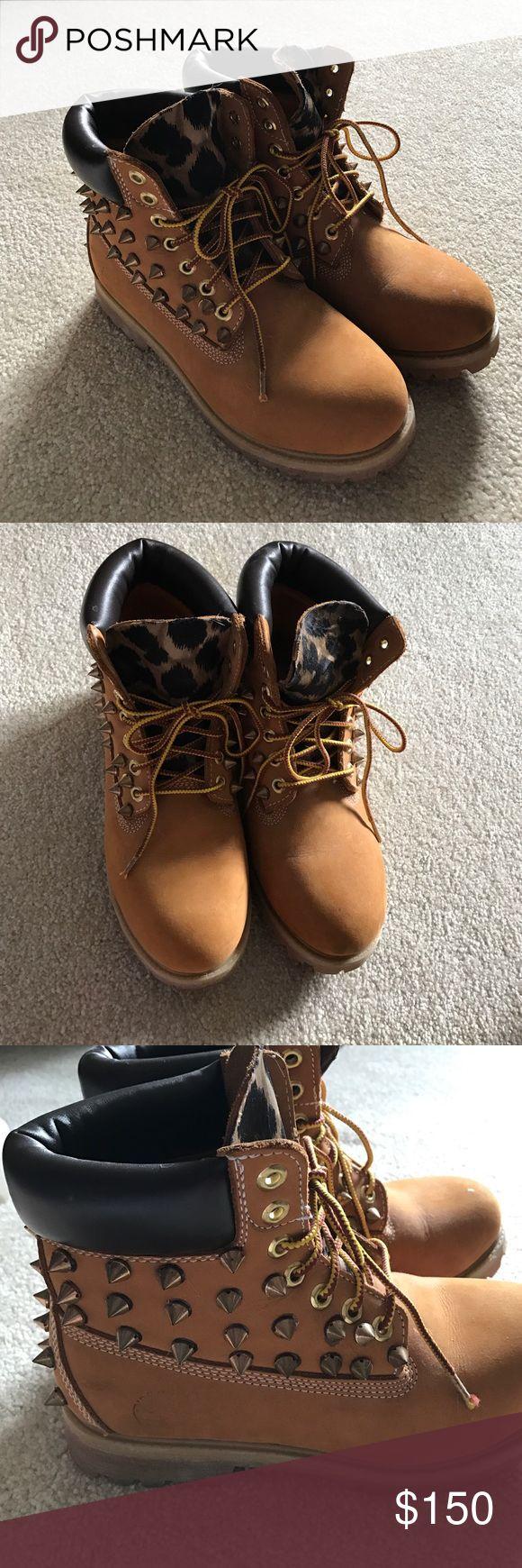 Custom Timberlands Size: Men's 7 Woman's 9 Timberland Shoes Winter & Rain Boots