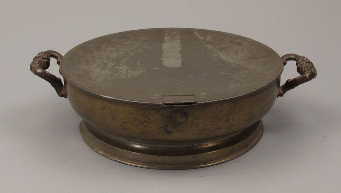 Online veilinghuis Catawiki: Antiek tinnen Warm water schaal - Frankrijk - 19de eeuw.