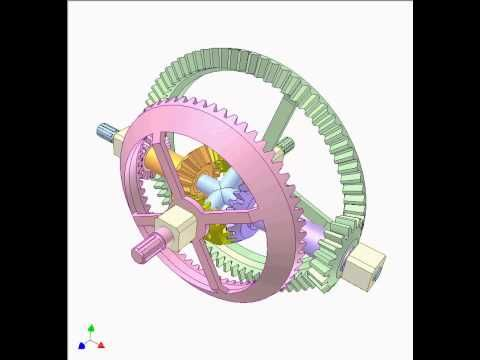Car differential with bevel gears 2