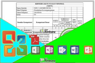 APLIKASI KKM SD KTSP KELAS 123456 Format Excel