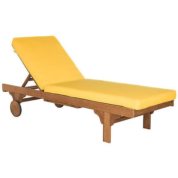 Outdoor Sienna Chaise Lounge Yellow Outdoor Chaise Longues Found On  Polyvore Featuring Home, Outdoors,