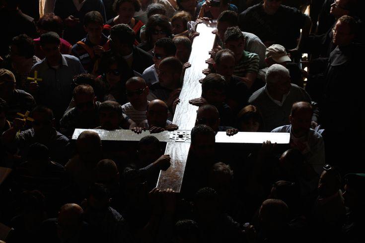 OUR CROSS TO BEAR: VIA DOLOROSA, CHURCH OF THE HOLY SEPULCHRE, JERUSALEM - GALI TIBBON