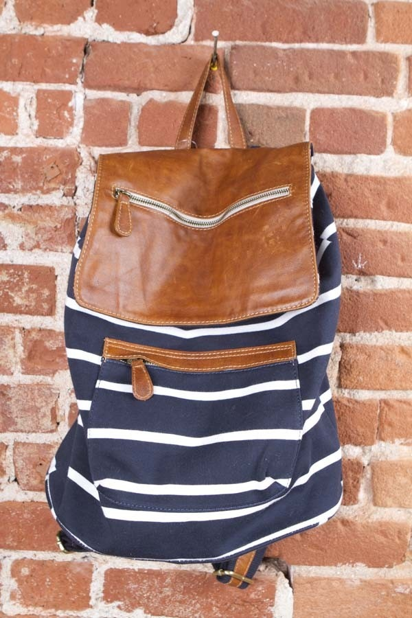 Brandy Melville leather flap backpack