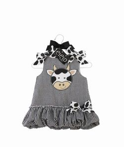 Mud Pie Cow outfit 2t-3t at www.facebook.com/sweetkelsiescreations and www.sweetkelsiescreations.com