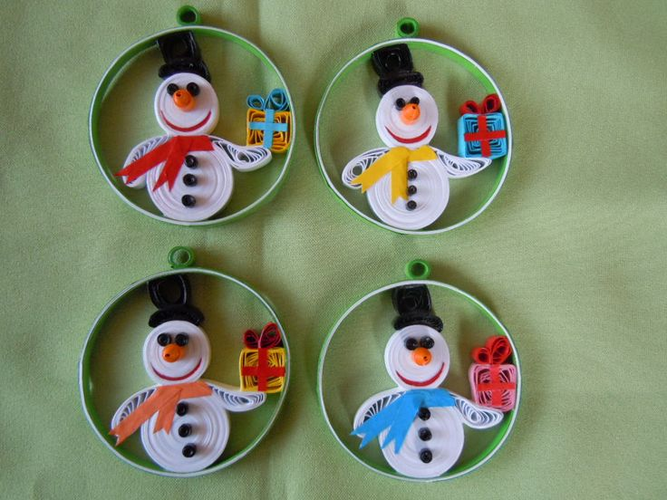 2013 Christmas decorations - my own original designs - Facebook.com/Zen Quilling
