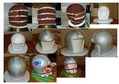 football helmet cake tutorial - Google Search
