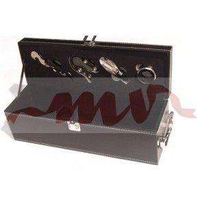 Cutie pentru sticla de vin cu accesorii