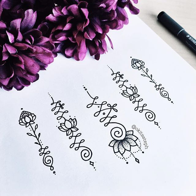 ✨Some more lotus Unalome work! Been getting tons and tons of emails from people wanting to use my other designs as tattoos, so I thought I'd throw some new ones out there! Send me photos if you get it inked, building my apprentice portfolio so I can finally start learning the ropes to ink myself!! #unalometattoo #unalome