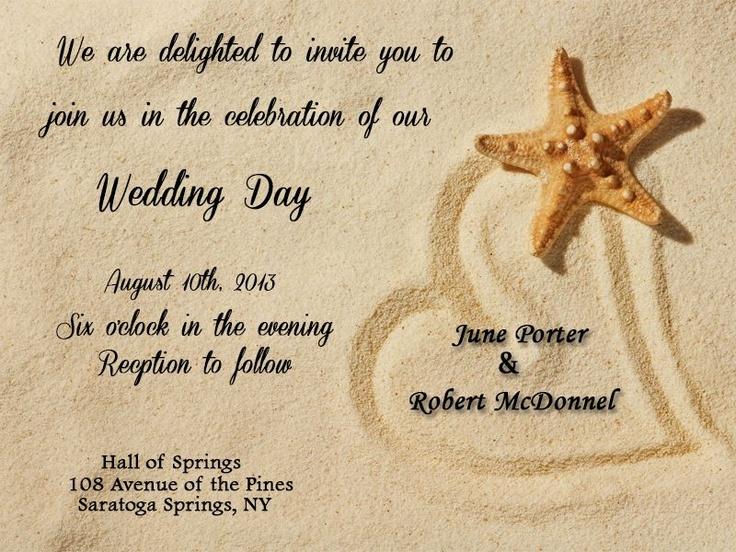 34 best Beach Themed Wedding Invitations images on Pinterest