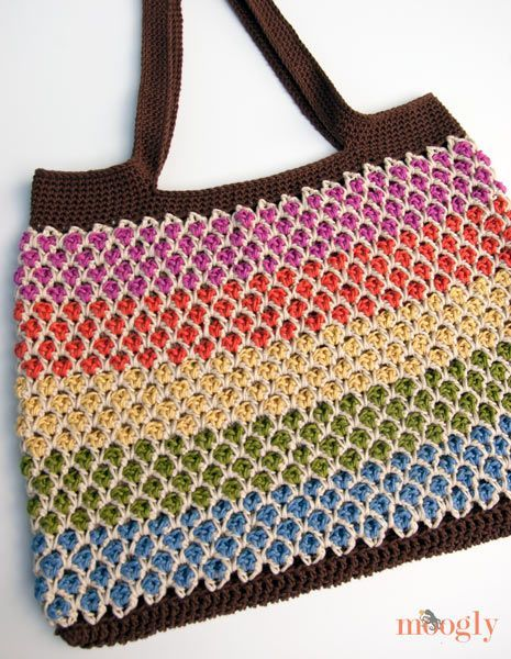 Moroccan Market Tote: free pattern by Moogly