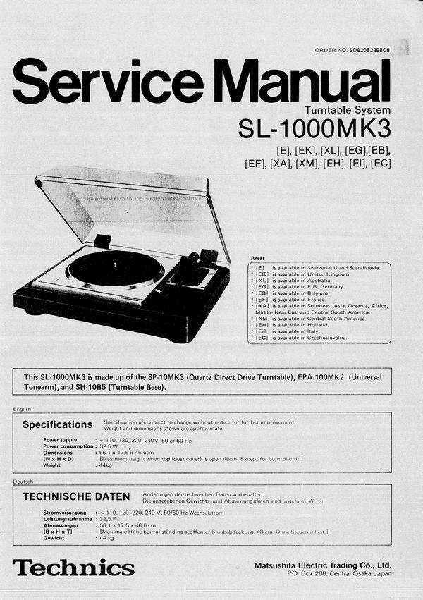 technics sl q3 service manual