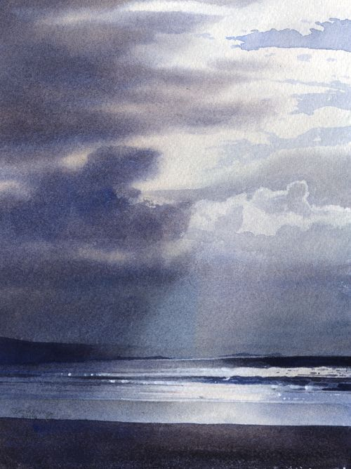 Sky above the waves, an original watercolour painting by Rob Piercy