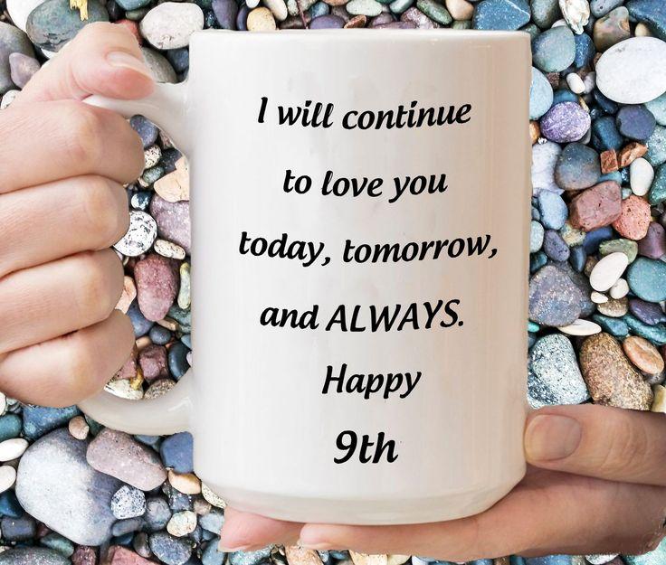 9th anniversary gift for he coffee mug 9th wedding