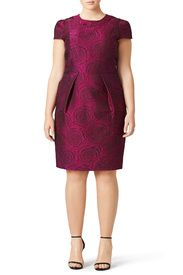 Magenta Floral Sheath by Carmen Marc Valvo for $45 - $65 | Rent the Runway