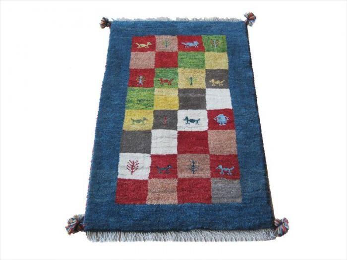 ペルシャギャッベ 玄関マットサイズ 61×96㎝ - ペルシャ絨毯・キリム・ギャッベ専門店 ペルシャンハウス