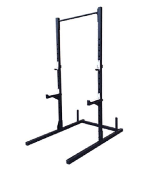 Safety Stands For Bench Press Part - 22: NEW Steel Squat + Pullup Rack Crossfit Rack Gym Exercise Adjustable Pullup  Bar