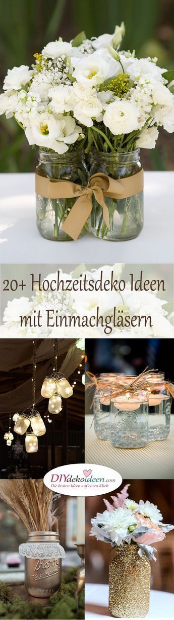 Wedding decoration with preserving jars – 20+ ideas