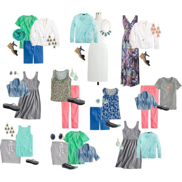 """Florida Outfits II - simplified"" by christyscloset on Polyvore"