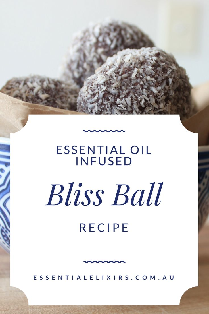 Essential oils infused bliss balls