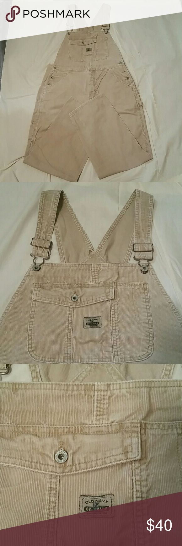 Overalls by Old Navy Blue Jeans Corduroy overalls,  like new. Size Large. Inseam 31-1/2 inches, waist 38 inches,  hips 48 inches. Old Navy Jeans Overalls