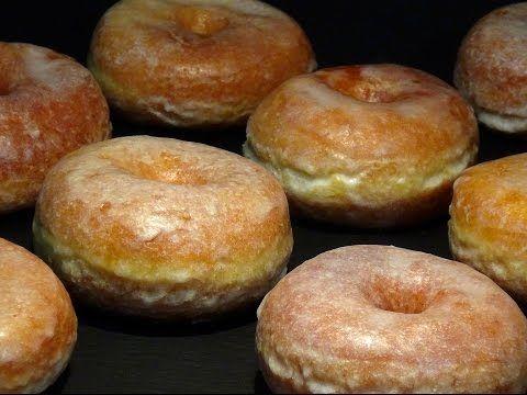 Receta Donuts o donas tradicionales caseros - Recetas de cocina, paso a paso, tutorial - YouTube