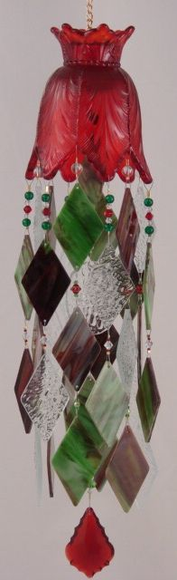 This gives me an idea....Red and green glass wind chime