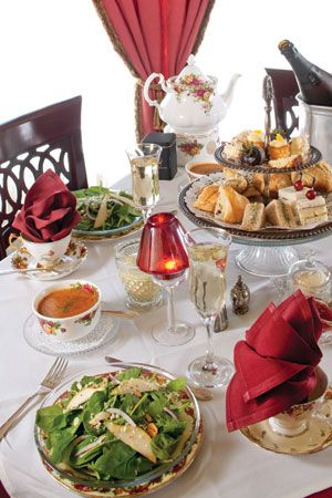 Royal Tea at the Empress Tea Room and Bistro, Tampa.