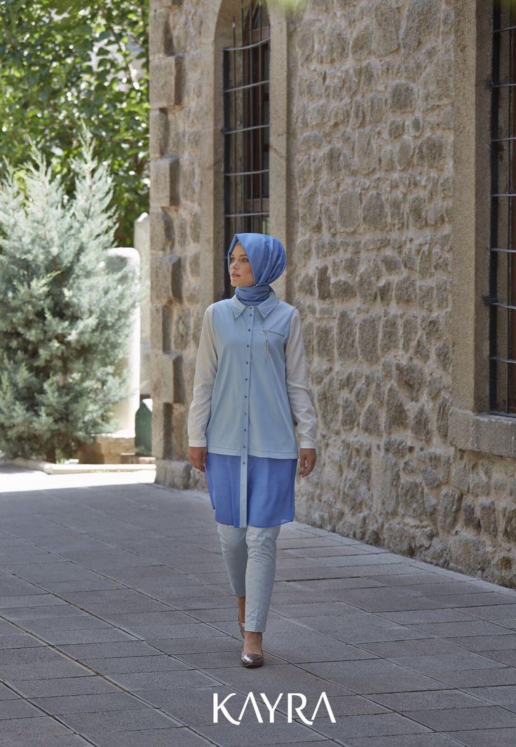 Denimden vazgeçemeyenler için Bayram'a özel çok yönlü bir parça! Gözlük desenli pantolon ise klasik pantolona modern bir yorum!✨ **A versatile chic piece from the New Collection special for Eid, to denim lovers➡️http://www.kayra.com.tr/p/5221/a4-10031-sifon-detay-kot-yelek-mavi